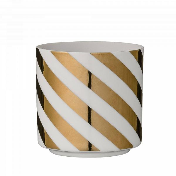 Подсвечник Gold StripsПодсвечники и свечи<br><br><br>stock: 0<br>Высота: 6,5<br>Материал: Фарфор<br>Цвет: Белый<br>Диаметр: 7