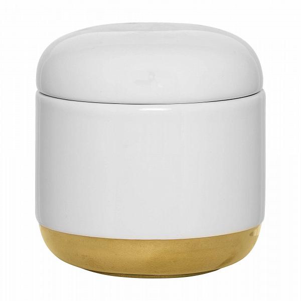 Емкость для хранения с крышкой White &amp; GoldРазное<br><br><br>stock: 0<br>Высота: 11<br>Материал: Керамика<br>Цвет: Белый<br>Диаметр: 10,5