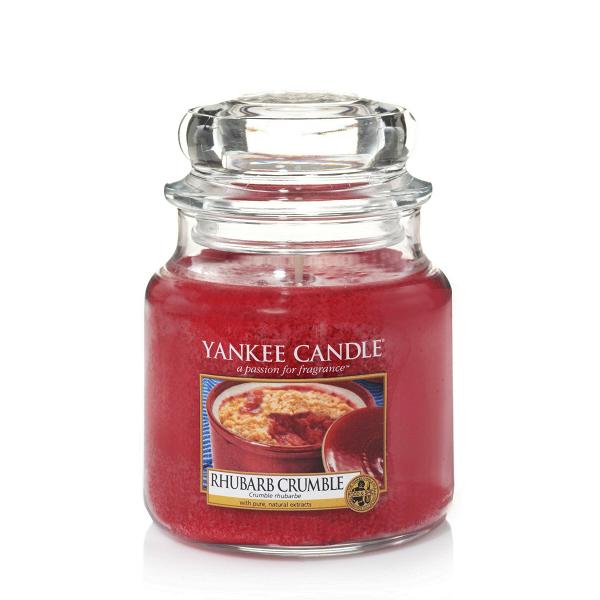 Свеча средняя в стеклянной банке Rhubarb CrumbleПодсвечники и свечи<br>Свеча средняя в стеклянной банке Rhubarb Crumble — это прямо из духовки, вкусные, теплые ароматы песочного теста, яблока и ревеня, с пикантным вкусом коричневого сахара и ванили.<br> <br> Сделано в США.<br> Время горения 65–90 часов.<br>Вес 411 г<br><br>stock: 0<br>Высота: 12.7<br>Цвет: Красный<br>Диаметр: 10.7