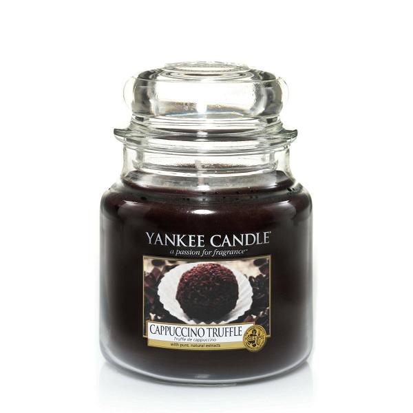 Свеча средняя в стеклянной банке Capuccino Truffle baron капучино молочный шоколад с начинкой 100 г