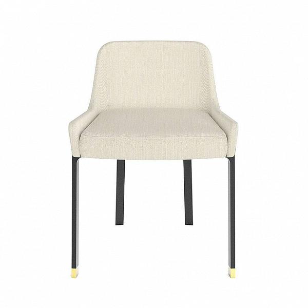 Стул BlinkИнтерьерные<br>Стильный набор удобных стульев – это не роскошь, а необходимая часть интерьера, которая может выполнять самые разные функции. Стул Blink может дополнить современный интерьер гостиной комнаты или прихожей, он идеально подойдет для размещения у обеденного стола, на него можно складывать домашние пледы. Изделие выглядит очень уютно благодаря своей спокойной цветовой гамме и обивке из фактурной ткани.<br><br><br> Изделия из ткани идеально подходят для домашнего интерьера. Они хорошо сохраняют тепл...<br><br>stock: 0<br>Высота: 68,8<br>Высота сиденья: 48,1<br>Ширина: 54,3<br>Глубина: 51,75<br>Цвет ножек: Черный<br>Материал сидения: Полиэстер, Полиуретан<br>Цвет сидения: Бело-серый<br>Цвет ножек дополнительный: Латунь<br>Тип материала сидения: Ткань<br>Коллекция ткани: Lamous<br>Тип материала ножек: Сталь