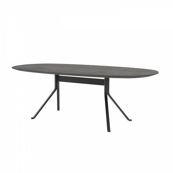 Обеденный стол Blink с деревянной столешницей овальныйОбеденные<br>Обеденный стол Blink с деревянной столешницей овальный – это уютное изделие в классическом стиле от дизайнеров компании Stellar Works. Стол имеет простое исполнение, его дизайн выглядит удобным, аккуратным и по-современному минималистичным.<br><br><br> Дизайн изделия элегантно подчеркивается высококачественными материалами, из которых его изготавливают. В первую очередь, деревянная столешница придает столу естественный, благородный вид. Деревянные элементы в интерьере делают его более теплым и ...<br><br>stock: 0<br>Высота: 72<br>Ширина: 110<br>Длина: 212,5<br>Цвет ножек: Черный<br>Цвет столешницы: Черный<br>Материал ножек: Сталь<br>Материал столешницы: Шпон ясеня<br>Тип материала столешницы: Дерево