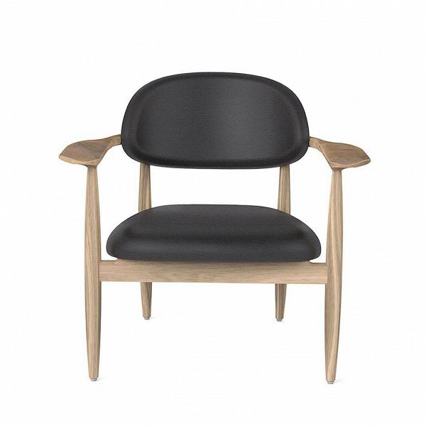 Кресло SlowИнтерьерные<br>Искусство интерьерного дизайна все больше направлено на практичность, комфорт и минимализм. Эти качества создают потрясающе красивую обстановку, в которой много пространства, света и воздуха – прекрасный вариант для создания вдохновляющего и уютного домашнего интерьера. Именно таким является кресло Slow от дизайнеров компании Stellar Works.<br><br><br> Модель выполнена из массива ясеня и кожи. Оба материала обладают высокой прочностью и практичностью, поверхность сиденья легко чистится. Проект...<br><br>stock: 0<br>Высота: 76,4<br>Высота сиденья: 41,8<br>Ширина: 80,7<br>Глубина: 67,2<br>Материал каркаса: Массив ясеня<br>Тип материала каркаса: Дерево<br>Коллекция ткани: CARESS<br>Тип материала обивки: Кожа<br>Цвет обивки: Черный<br>Цвет каркаса: Белый дуб