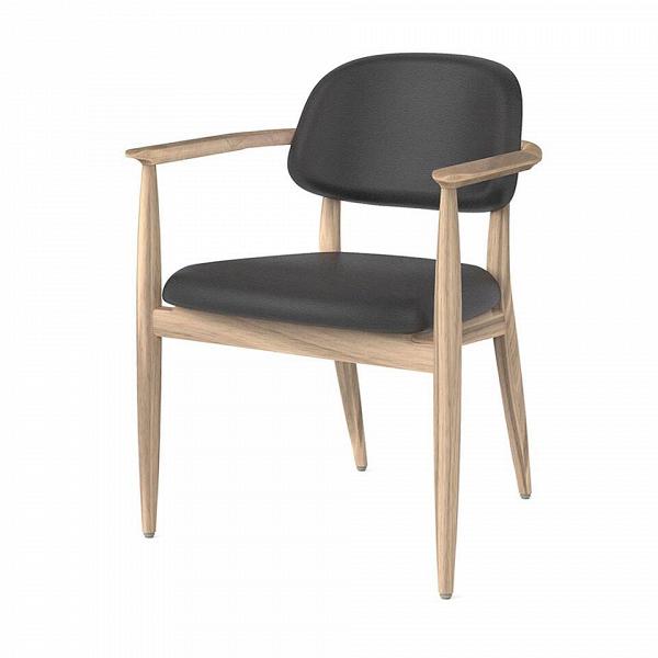 Стул Slow с подлокотникамиИнтерьерные<br>Элегантный, строгий дизайн и потрясающий комфорт – все это отлично сочетается в мебели классического жанра. Дизайнеры компании Stellar Works создают мебель самого разного стиля и назначения, но все их изделия объединяются главными принципами – утонченная красота и максимальный комфорт. Стул Slow с подлокотниками ярко подтверждает эти тенденции.<br><br><br> Модель выполнена из массива ясеня и кожи. Оба материала обладают высокой прочностью и практичностью, поверхность сиденья легко чистится. Пр...<br><br>stock: 0<br>Высота: 80,2<br>Высота сиденья: 46,8<br>Ширина: 60,7<br>Глубина: 57,8<br>Материал каркаса: Массив ясеня<br>Тип материала каркаса: Дерево<br>Цвет сидения: Черный<br>Тип материала сидения: Кожа<br>Коллекция ткани: CARESS<br>Цвет каркаса: Белый дуб