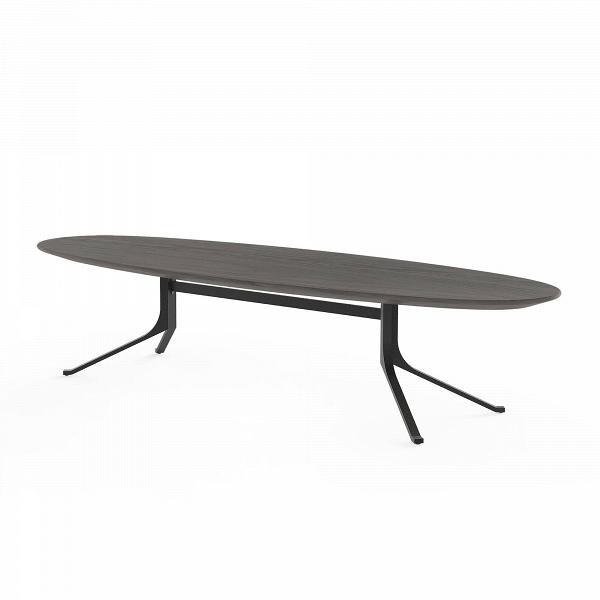 Кофейный стол Blink с деревянной столешницей овальныйКофейные столики<br>Кофейный стол Blink с деревянной столешницей овальный представляет собой простое классическое изделие. Однако сразу привлекают внимание его удивительные размеры и форма – на таком столе очень удобно устраивать небольшие фуршеты и чаепития с друзьями, на нем можно играть в настольные игры, он прекрасно будет смотреться в сочетании с декоративными элементами, например с цветочной вазой или фигурными салфетницами.<br><br><br> Кофейный стол Blink с деревянной столешницей овальный не только функциона...<br><br>stock: 0<br>Высота: 38<br>Ширина: 60<br>Длина: 177,5<br>Цвет ножек: Черный<br>Цвет столешницы: Черный<br>Материал ножек: Сталь<br>Материал столешницы: Шпон ясеня<br>Тип материала столешницы: Дерево