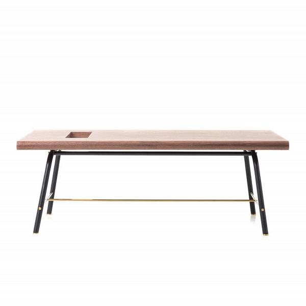Кофейный стол ValetКофейные столики<br>Кофейный стол Valet – это уютное и стильное решение для современного интерьера. В нем присутствуют утонченные черты, навеянные восточными традициями и функциональность и практичность Запада. Таковы изделия компании Stellar Works – они объединяют красоту и практичные качества двух культур и создают совершенно новый, интересный дизайн мебели для дома и общественных заведений.<br><br><br> Практичные, очень прочные и износостойкие материалы, из которых создается эта модель, позволяют не беспокоитьс...<br><br>stock: 0<br>Высота: 37,1<br>Ширина: 64<br>Длина: 105<br>Цвет ножек: Черный<br>Цвет столешницы: Орех<br>Материал столешницы: Шпон ореха<br>Тип материала столешницы: Дерево<br>Тип материала ножек: Сталь