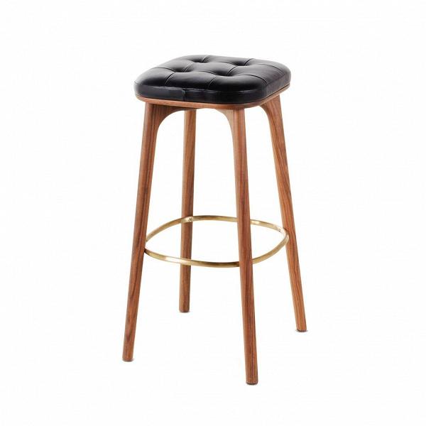 Барный стул Utility высота 76Барные<br>Барный стул Utility высота 76 впечатляет своим роскошным классическим дизайном. Барные стулья призваны не только служить функциональными элементами кухни, но и украшать ее своим присутствием. Данная модель стула от дизайнеров компании Stellar Works отлично справится с этими задачами и сделает домашнюю кухню более комфортной и интересной.<br><br><br> Барный стул Utility высота 76 – это высококачественное изделие, которое будет радовать владельцев своим прекрасным внешним видом в течение многих ле...<br><br>stock: 0<br>Высота: 76<br>Ширина: 39,9<br>Глубина: 38,9<br>Цвет ножек: Орех<br>Материал ножек: Массив ясеня<br>Цвет сидения: Черный<br>Тип материала сидения: Дерево<br>Коллекция ткани: CARESS<br>Тип материала ножек: Дерево