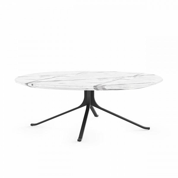 Кофейный стол Blink с каменной столешницей диаметр 108Кофейные столики<br>Кофейный стол Blink с каменной столешницей диаметр 108 – это изделие из одноименной линейки домашней мебели Blink от компании Stellar Works. Изделия этого бренда – произведения искусства, сочетающие в себе утонченность Востока и функциональность Запада. Кофейный стол Blink обладает красивейшим дизайном, что достигается не только его формой и деталями, но и благодаря материалам, которые опытные мастера отбирают для его изготовления.<br><br><br> Для создания этой модели стола дизайнеры выбрали на...<br><br>stock: 0<br>Высота: 38<br>Диаметр: 108<br>Цвет ножек: Черный<br>Цвет столешницы: Белый<br>Материал ножек: Сталь<br>Тип материала столешницы: Натуральный камень