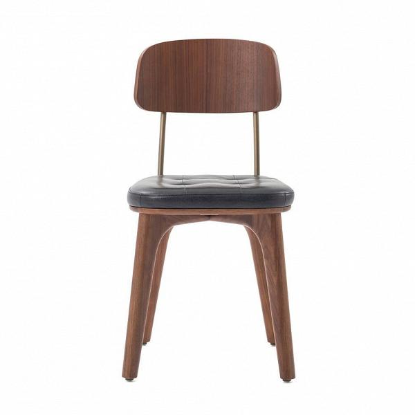 Стул Utility с кожаным сиденьемИнтерьерные<br>Стул Utility с кожаным сиденьем – это универсальное и очень красивое изделие, созданное талантливыми дизайнерами и мастерами компании Stellar Works. Каждое их творение способно привнести что-то новое в домашний интерьер, создать совершенно неповторимую атмосферу, сделать его более красивым, удобным и стильным. И конечно, функциональным – ведь именно функциональность часто является одним из главных критериев подбора стульев для домашнего интерьера.<br><br><br> Стул Utility с кожаным сиденьем не т...<br><br>stock: 0<br>Высота: 81<br>Высота сиденья: 46,6<br>Ширина: 42,1<br>Глубина: 51,1<br>Материал каркаса: Массив ясеня<br>Тип материала каркаса: Дерево<br>Цвет сидения: Черный<br>Тип материала сидения: Кожа<br>Коллекция ткани: CARESS<br>Цвет каркаса: Орех