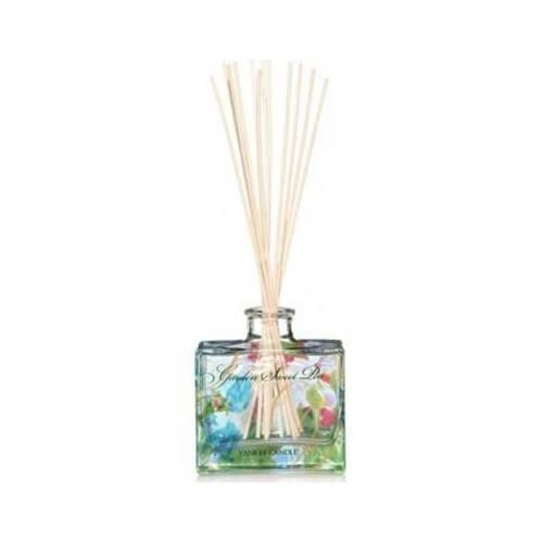 Ароматический диффузор Garden Sweet PeaРазное<br>Ароматический диффузор Garden Sweet Pea — это душистый аромат садовых цветов горошка, создающий ощущения постоянного лета. Сладкий аромат с оттенками ароматов груши, персика, фрезии и розового дерева. Верхняя нота — сладкий горошек, груша, белый персик. Средняя нота — фрезия, озон. Базовая нота — палисандр, ваниль, мускус. Флакон у этого диффузора частично расписан вручную и впишется в любой интерьер. <br> <br> Наполняет ароматом помещение 40 м3 более 1,5 месяцев при постоянном использовании.<br>Об...<br><br>stock: 0<br>Цвет: Голубой