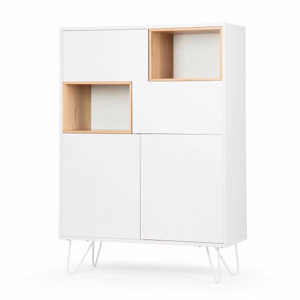 Книжный шкаф StanmoreШкафы<br>Очаровательный книжный шкаф Stanmore – это лаконичное и уютное решение для организации небольшой домашней библиотеки. Шкаф имеет как открытые полки, так и закрытые, что позволяет сделать весьма удобную расстановку. На открытых полках, например, можно разместить любимые книги, книги, которые читаете сейчас, а также украсить пространство шкафа декоративными элементами.<br><br><br> Книжный шкаф Stanmore спроектирован специально для стилистического оформления современного интерьера. И для его создан...<br><br>stock: 30<br>Высота: 140<br>Ширина: 100<br>Глубина: 40<br>Цвет ножек: Белый<br>Материал каркаса: МДФ<br>Материал ножек: Металл<br>Цвет каркаса: Белый