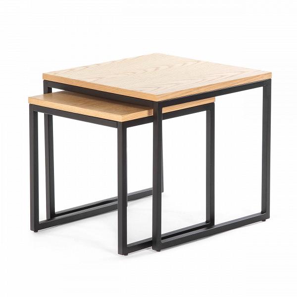 Набор кофейных столов OsakaКофейные столики<br>В современном интерьере функциональность часто стоит на первом месте – при таком подходе освобождается большое количество пространства, помещение становится легким для восприятия, в нем приятно находиться. Кофейные столики играют важную роль в таких комнатах. Набор кофейных столов Osaka – отличный пример грамотного использования пространства и оригинальное дополнение к общей обстановке помещения.<br><br><br> Стильное, элегантное сочетание стали и дерева в интерьере переросло в современную тенден...<br><br>stock: 29<br>Высота: 45/40<br>Ширина: 50/40<br>Длина: 50/40<br>Цвет столешницы: Дуб<br>Материал каркаса: Металл<br>Материал столешницы: МДФ, шпон дуба<br>Тип материала столешницы: МДФ<br>Цвет каркаса: Черный