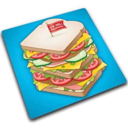 Доска для готовки и защиты рабочей поверхности SandwichРазное<br><br><br>stock: 0<br>Высота: 0,7<br>Ширина: 30<br>Материал: Стекло<br>Цвет: Голубой