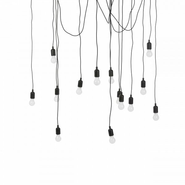 Подвесной светильник Maman IПодвесные<br>Создайте драматичный акцент с помощью подвесного светильника Maman I. В комплект входят 14 LED-ламп, а такжеВ7 трехметровых и 7 четырехметровых черных кабелей. Расположить их можно как угодно в зависимости от личных предпочтений и дизайнерской задумки — создайте изогнутую линию кабеля или же подвесьте их как пучок. А вот что касается стилевой принадлежности подходящих для него интерьеров, то тут можно изрядно поломать голову. Авангард, лофт, конструктивизм и, разумеется, эклектика — вот ...<br><br>stock: 6<br>Количество ламп: 14<br>Цвет провода: Черный