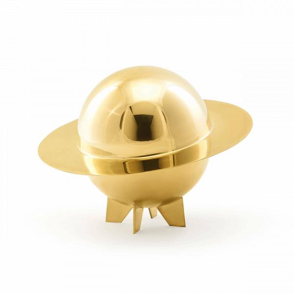 Емкость для хранения LunarПосуда<br>Дизайнеры компании Seletti создали красивейшую коллекцию Lunar, которая предназначается для украшения обеденного или кофейного стола. Эта модель особенно привлекает тем, что ее снабдили удобной крышкой – в емкость для хранения Lunar можно положить конфеты или печенье и туда не попадет пыль или шерсть животных. При подаче на стол крышку можно снимать и емкость будет выглядеть как красивая полусфера.<br><br><br> Модель изготовлена из прочной и практичной латуни, очень популярный вариант в соврем...<br><br>stock: 5<br>Высота: 24,5<br>Материал: Латунь<br>Цвет: Латунь<br>Диаметр: 32