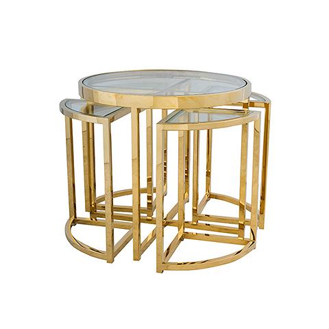 Стол приставной (Z0149A/Z0150A 31#A )Кофейные столики<br>Если вам нравятся исключительные интерьеры, в которых гармонично сочетается индивидуальность и надежность, современность и классичность, то мебель от голландской компании EICHHOLTZ обязательно придется вам по вкусу. Интересная, качественная, запоминающаяся, она сделает ваш дом эффектнее и уютнее.<br><br>История создания голландской компании EICHHOLTZ – это быстрый путь к успеху, начавшийся всего полтора десятка лет назад. Талантливый и креативный Theo Eichholtz понял в путешествиях, что мебель – эт...<br><br>stock: 3<br>Высота: 55<br>Ширина: 60<br>Материал: стекло, нержавеющая сталь<br>Цвет: matte gold<br>Длина: 60