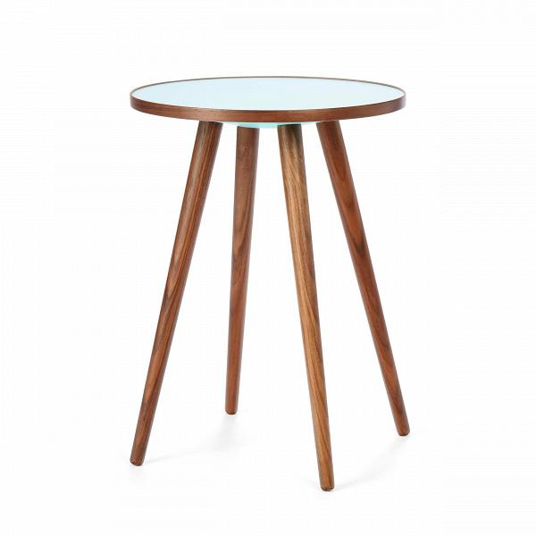 Кофейный стол Sputnik высота 55 диаметр 41Кофейные столики<br>Дизайнерский кофейный стол Sputnik (Спутник) (высота 55 диаметр 41) с пластиковой столешницей на четырех ножках от Cosmo (Космо).<br><br><br> Кофейный стол Sputnik высота 55 диаметр 41 имеет четыре длинные устойчивые ножки и небольшую круглую столешницу. Его разработал американский дизайнер и архитектор мирового уровня Шон Дикс. Столик сделан из качественной древесины американского ореха, что делает его достаточно прочнымВ и долговечным. СтолешницаВ покрыта меламином, благодаря чему уст...<br><br>stock: 4<br>Высота: 55<br>Диаметр: 40,6<br>Цвет ножек: Орех американский<br>Цвет столешницы: Голубой<br>Материал ножек: Массив ореха<br>Тип материала столешницы: Пластик<br>Тип материала ножек: Дерево<br>Дизайнер: Sean Dix