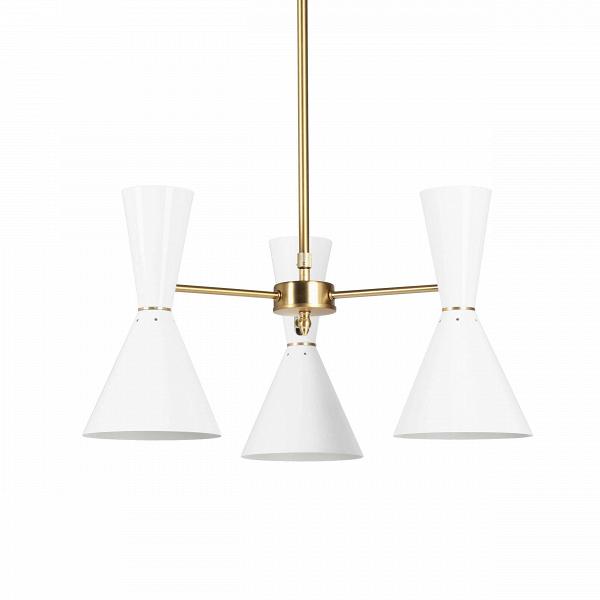 Потолочный светильник Stilnovo Style 3 лампыПотолочные<br>Потолочный светильник Stilnovo Style 3 лампы — это яркий и веселый светильник американской компании Stilnovo, которая воспроизводит лампы самых известных дизайнеров XX века и создает новые необычные осветительные приборы.<br><br><br> Этот светильник отличается своим цветовым исполнением. Три абажура, выкрашенные в двух вариантах — черном и белом, обязательно будут поднимать вам настроение в холодный зимний день или дождливую пасмурную осеннюю погоду. Тонкие ножки напоминают лучи солнышка, котор...<br><br>stock: 0<br>Высота: 36<br>Диаметр: 60<br>Материал абажура: Сталь<br>Материал арматуры: Сталь<br>Цвет абажура: Белый<br>Цвет арматуры: Латунь