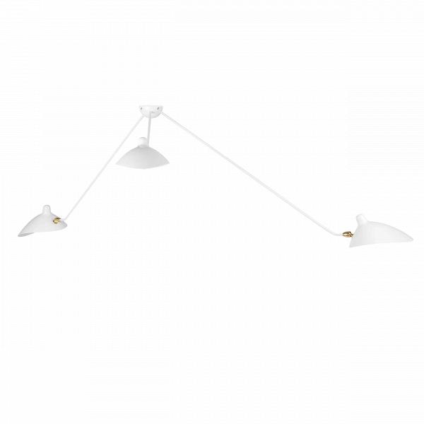 Потолочный светильник Spider 3 лампыПотолочные<br>Потолочный светильник Spider 3 лампы — это меньшая из двух моделей потолочного светильника, созданного в 1953 году французским промышленным дизайнером по имени Серж Муй.<br><br><br> Серж Муй — один из самых известных и титулованных дизайнеров своего времени. Спустя два года после создания этого светильника он стал членом Общества художников и Французского национального художественного общества, завоевал множество наград, а сейчас его работы выставляются в галерее Стефа Симона в Париже. Коллекци...<br><br>stock: 3<br>Длина: 55/90/110<br>Количество ламп: 3<br>Материал абажура: Металл<br>Материал арматуры: Сталь<br>Мощность лампы: 40<br>Ламп в комплекте: Нет<br>Напряжение: 220-240<br>Тип лампы/цоколь: E14<br>Цвет абажура: Белый<br>Цвет арматуры: Белый<br>Цвет провода: Белый<br>Дизайнер: Serge Mouille