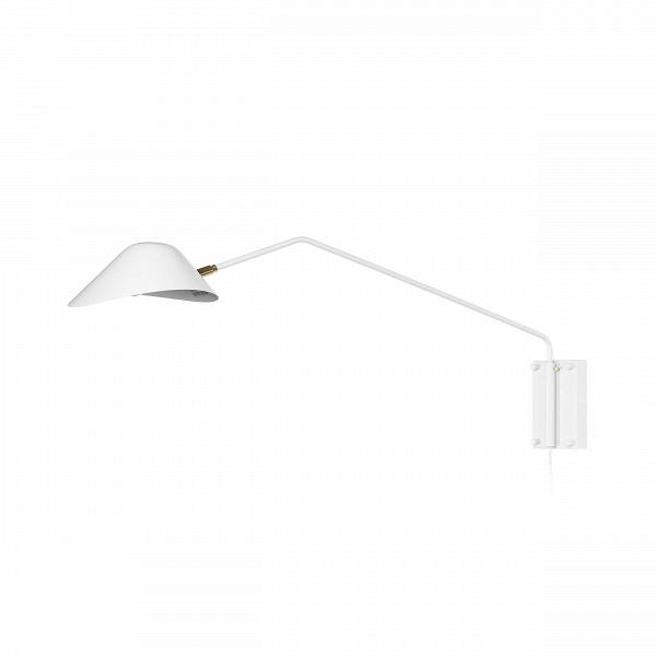 Настенный светильник Collet длина штанги 92Настенные<br>Настенный светильник Collet длина штанги 92 – универсальный источник освещения для интерьера современного типа. Светильники на кронштейне – это очень удобное приспособление, с помощью которого вы можете направлять свет именно туда, куда необходимо. А у этой модели еще достаточно длинная штанга, для того чтобы осветить максимально большое пространство.<br><br><br> Светильник особенно привлекателен продуманным дизайном абажура, благодаря нему свет мягко рассеивается и освещает больше пространства...<br><br>stock: 0<br>Высота: 33,5<br>Длина: 92<br>Материал абажура: Алюминий<br>Материал арматуры: Металл<br>Цвет абажура: Белый<br>Цвет арматуры: Белый