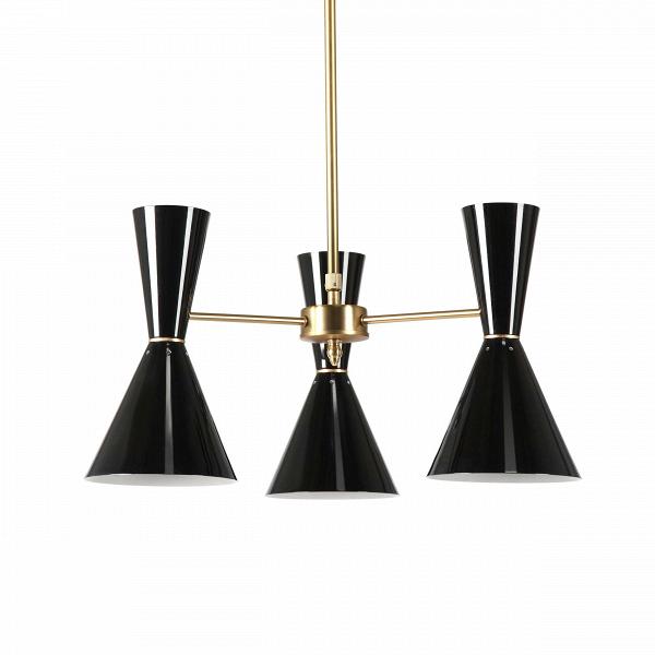 Потолочный светильник Stilnovo Style 3 лампыПотолочные<br>Потолочный светильник Stilnovo Style 3 лампы — это яркий и веселый светильник американской компании Stilnovo, которая воспроизводит лампы самых известных дизайнеров XX века и создает новые необычные осветительные приборы.<br><br><br> Этот светильник отличается своим цветовым исполнением. Три абажура, выкрашенные в двух вариантах — черном и белом, обязательно будут поднимать вам настроение в холодный зимний день или дождливую пасмурную осеннюю погоду. Тонкие ножки напоминают лучи солнышка, котор...<br><br>stock: 0<br>Высота: 36<br>Диаметр: 60<br>Материал абажура: Сталь<br>Материал арматуры: Сталь<br>Цвет абажура: Черный<br>Цвет арматуры: Латунь