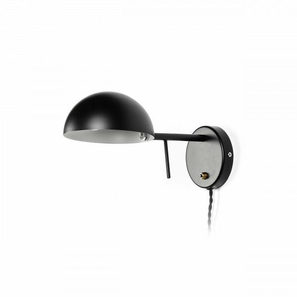 Настенный светильник Frosini 1Настенные<br>Популярность интерьеров в стиле хай-тек набирает обороты. И неудивительно, ведь вся суть этого стиля заключается в большом количестве пространства и максимальном удобстве использования каждого элемента. Настенный светильник Frosini 1 прекрасно впишется в такую обстановку, его дизайн способствует отличному освещению, а также стильному дополнению комнатного пространства.<br><br><br> Интерьер в стиле хай-тек и других схожих с ним направлений предполагает использование изделий из наиболее практичн...<br><br>stock: 0<br>Высота: 14<br>Диаметр: 30<br>Материал арматуры: Металл<br>Цвет арматуры: Черный