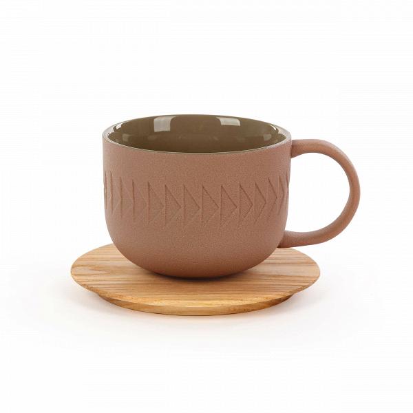 Чашка с блюдцем Tactile диаметр 9,4Посуда<br>Коллекция Tactile сочетает в себе черты скандинавского минимализма и яркую геометрию японского стиля. Изделия этой коллекции отличаются необыкновенной красотой пропорций и аккуратного, «тактильного» узора. Все модели выполнены в завораживающих шоколадных оттенках.<br><br><br> Коллекция Tactile включает в себя изящные модели тарелок и мисок, вазы, чашки и другие принадлежности, способные украсить собой любой обеденный стол. Внутренняя полость сосудов идеально гладкая и очень красиво сочетается с ...<br><br>stock: 92<br>Высота: 7,1<br>Материал: Глина<br>Цвет: Коричневый<br>Диаметр: 9,4