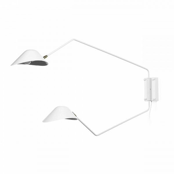 Настенный светильник Collet 2 лампыНастенные<br>Настенный светильник Collet 2 лампы – это функциональный источник освещения, благодаря которому качество освещения окружающей обстановки станет на порядок выше. Главное преимущество этой модели в его двухуровневом формате. Нижний плафон хорошо освещает место перед собой, а верхний – мягко рассеивает свет вокруг.<br><br><br> Светильник особенно привлекателен продуманным дизайном абажуров, благодаря ему свет рассеивается и освещает больше пространства, а не падает узким пучком. Изделие создается ...<br><br>stock: 0<br>Высота: 63<br>Длина: 110<br>Материал абажура: Алюминий<br>Материал арматуры: Металл<br>Цвет абажура: Белый<br>Цвет арматуры: Белый
