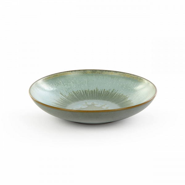 Тарелка Auberge диаметр 16Посуда<br>Посуда в восточном стиле способна преобразить всю обстановку и превратить обычный прием пищи в маленькую церемонию. Коллекция Auberge представляет собой прекрасный набор из посуды, обладающей утонченным дизайном и выполненной в умиротворяющей цветовой гамме.<br><br><br> В коллекцию Auberge входят сосуды самого разного назначения – тарелки для супа, для салата, емкости для соусов и даже кувшины. Особое значение создатели придали материалу, из которого изготавливается набор, это экологически чис...<br><br>stock: 52<br>Высота: 3<br>Материал: Глина<br>Цвет: Зелёный<br>Диаметр: 16