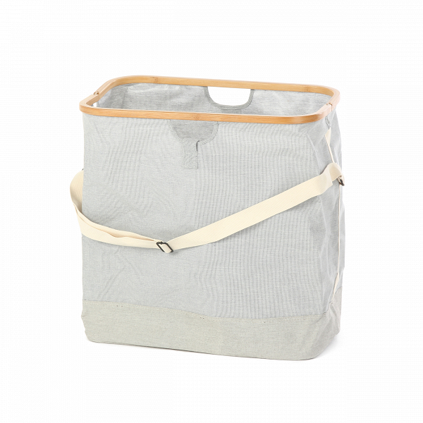 Сумка Uroki с одной ручкойРазное<br>Сумка Uroki с одной ручкой – это простая и удобная сумка для вашей одежды или белья. В ней можно отнести белье в прачечную и не бояться, что что-то растеряется по дороге – сумка необычайно вместительная, но при этом весит очень мало. Ее дизайн особенно придется по вкусу тем, кто ценит аккуратность и красоту, изделие прекрасно будет сочетаться с повседневной одеждой.<br><br> Изделие обладает большими размерами и совсем небольшим весом; это достигается за счет специально подобранных материалов, из...<br><br>stock: 23<br>Высота: 55<br>Ширина: 53.4<br>Глубина: 33<br>Материал: Ткань<br>Цвет: Серый<br>Состав основы: Хлопок, Полиэстер<br>Материал дополнительный: Бамбук<br>Цвет дополнительный: Коричневый