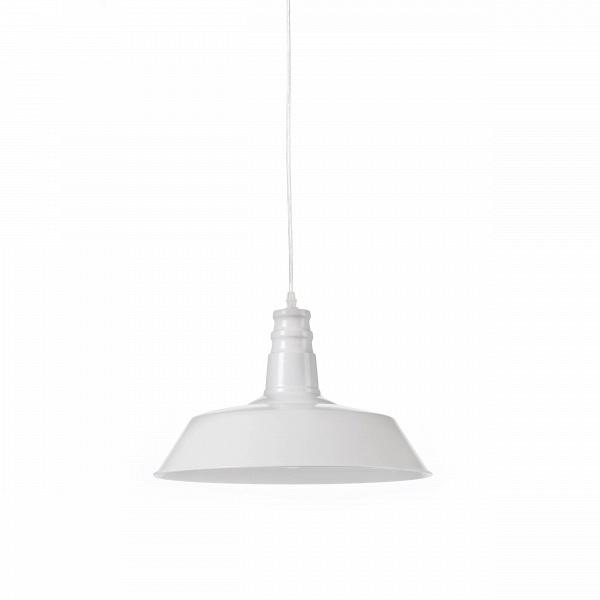 Подвесной светильник Barn IndustrialПодвесные<br>Этот подвесной светильник сочетает в себе лаконичность и практичность. Прочные металлические детали подвесного светильника Barn Industrial внушают спокойствие иВуверенность.<br><br><br> Подвесной светильник Barn Industrial идеально подходит для использования вВрамках индустриального стиля, для освещения баров, коворкингов, лофтов иВдругих просторных помещений, которым подошлоВбы оформление вВмодном сегодня стиле стимпанк.<br><br>stock: 0<br>Высота: 26<br>Длина: 36<br>Длина провода: 150<br>Количество ламп: 1<br>Материал абажура: Сталь<br>Мощность лампы: 40<br>Ламп в комплекте: Нет<br>Напряжение: 220<br>Тип лампы/цоколь: E27<br>Цвет абажура: Белый<br>Цвет провода: Черный