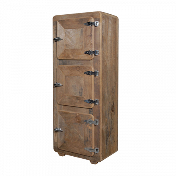 Шкаф Фриджи (HA-LLFGY035TAVRPEZ)Шкафы<br>ROOMERS – это особенная коллекция, воплощение всего самого лучшего, модного и новаторского в мире дизайнерской мебели, предметов декора и стильных аксессуаров. Интерьерные решения от ROOMERS в буквальном смысле не имеют границ. Мебель, предметы декора, светильники и аксессуары тщательно отбираются по всему миру – в последних коллекциях знаменитых дизайнеров и культовых брендов, среди искусных работ hand-made мастеров Европы и Юго-Восточной Азии во время большого и увлекательного путешествия, ...<br><br>stock: 1<br>Высота: 184<br>Ширина: 52<br>Материал: металл, дерево<br>Длина: 72
