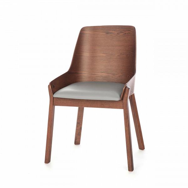 Стул Safia с мягким сиденьемИнтерьерные<br>Простой и элегантный стул Safia с мягким сиденьем идеально подходит для офисных помещений или для домашнего кабинета. Он выполнен в деловом стиле и обладает строгой цветовой палитрой. Модель особенно привлекательна своей высокой спинкой и мягким сиденьем, эта конструкция поможет снять напряжение и сохранит здоровую осанку.<br><br><br> Изделие создается из надежных, практичных материалов. Такая основа обеспечивает ему долгий срок службы даже при постоянном использовании в различных заведениях о...<br><br>stock: 100<br>Высота: 86<br>Ширина: 57,5<br>Глубина: 57<br>Цвет ножек: Орех<br>Цвет спинки: Орех<br>Материал ножек: Массив ясеня<br>Материал спинки: Фанера, шпон ясеня<br>Материал сидения: Поливинилхлорид<br>Цвет сидения: Серый<br>Тип материала спинки: Фанера<br>Тип материала сидения: Кожа искусственная<br>Тип материала ножек: Дерево