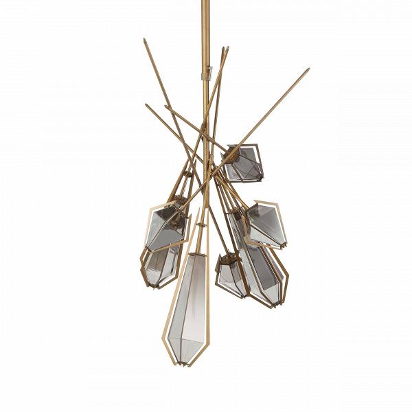 Подвесной светильник 1199S-7Подвесные<br><br><br>stock: 2<br>Высота: 158<br>Диаметр: 71<br>Количество ламп: 7<br>Материал абажура: Стекло<br>Материал арматуры: Сталь<br>Мощность лампы: 40<br>Ламп в комплекте: Нет<br>Напряжение: 220<br>Тип лампы/цоколь: E14<br>Цвет абажура: Дымчато-серый<br>Цвет арматуры: Золотой матовый