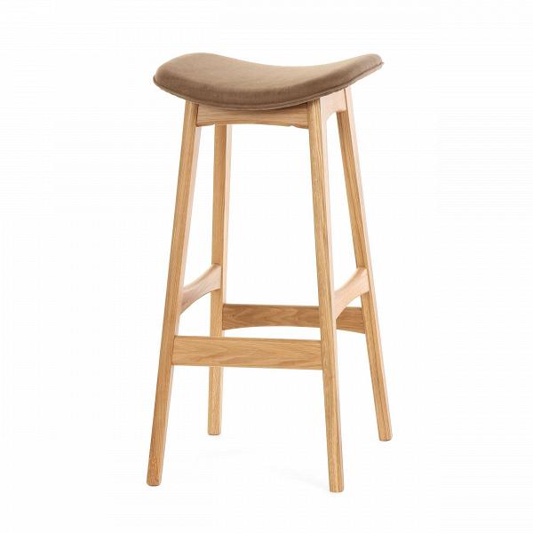 Барный стул Allegra высота 77Барные<br>Дизайнерский барный стул Allegra (Аллегра) на деревянном каркасе без спинки в различных цветах от Cosmo (Космо).Это универсальный стул для дома и частных заведений. Он отлично подойдет как для баров и ресторанов, так и для уютных гостиных и кухонь. Цвет натурального дерева и простота деталей делают его по-настоящему лаконичным, благодаря чему он прекрасно впишется в интерьеры различной стилевой направленности.<br> <br> Стройный силуэт оригинального барного стула Allegra высота 77 составляют прямы...<br><br>stock: 0<br>Высота: 76,5<br>Ширина: 40<br>Глубина: 38,5<br>Цвет ножек: Дуб<br>Материал ножек: Массив дуба<br>Материал сидения: Хлопок, Лен<br>Цвет сидения: Коричневый<br>Тип материала сидения: Ткань<br>Коллекция ткани: Ray Fabric<br>Тип материала ножек: Дерево