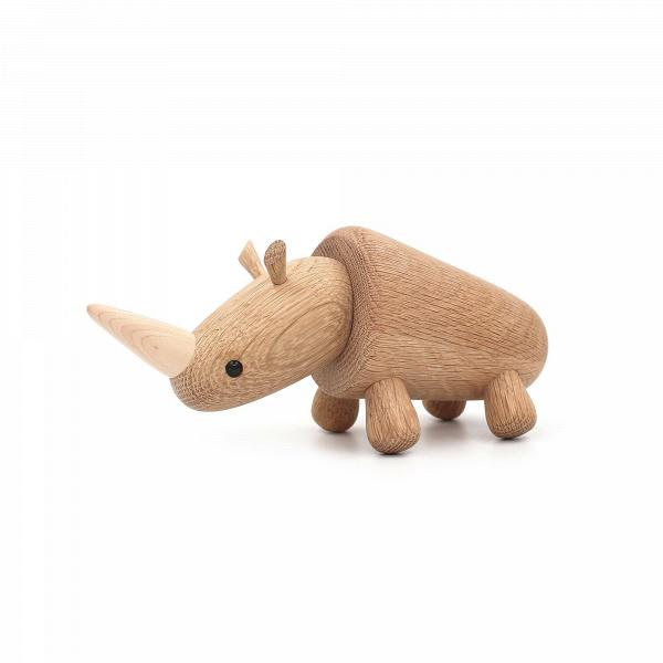 Статуэтка RhinoНастольные<br>Милый носорог, исполненный в дереве, будет прекрасным компаньоном и украшением в любом интерьере. Дизайнерская статуэтка Rhino (Рино) обладает спокойным характером и подойдет для декорирования практически любого современного интерьера.<br><br><br> Массив дуба, из которого создана эта фигурка, используется для изготовления самых разных элементов интерьера, от мебели до декора. И неудивительно, ведь дуб обладает высокими показателями физических свойств и прекрасными декоративными данными.<br><br><br> Ор...<br><br>stock: 5<br>Материал: Массив дуба<br>Цвет: Светло-коричневый<br>Длина: 20