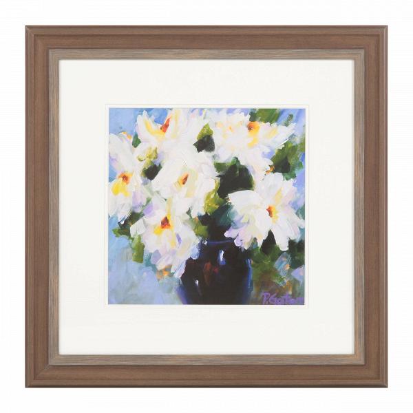 Постер Roses in WhiteКартины<br><br><br>stock: 6<br>Ширина: 54,2<br>Цвет: Разноцветный<br>Длина: 54,2