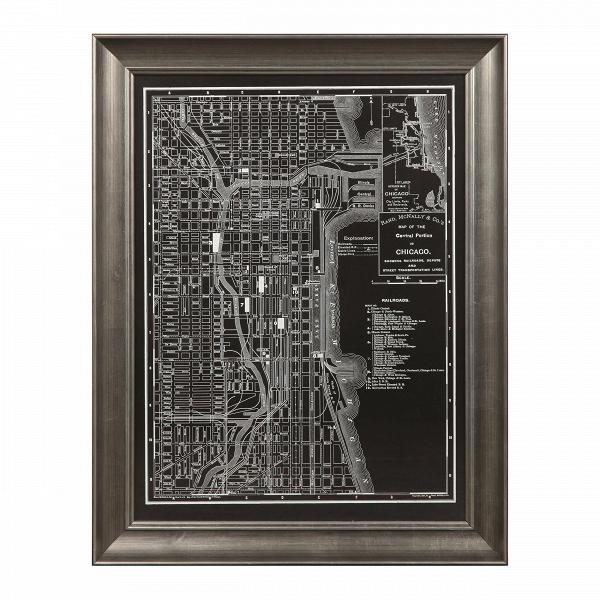 Постер ChicagoКартины<br><br><br>stock: 6<br>Ширина: 54,9<br>Цвет: Черный<br>Длина: 70,4<br>Цвет дополнительный: Белый
