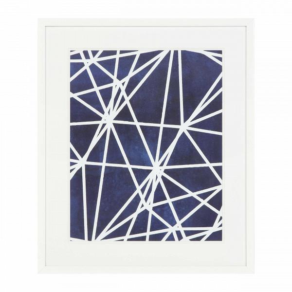 Постер Indigo 2Картины<br><br><br>stock: 9<br>Ширина: 55.8<br>Цвет: Синий<br>Длина: 65.8<br>Цвет дополнительный: Белый