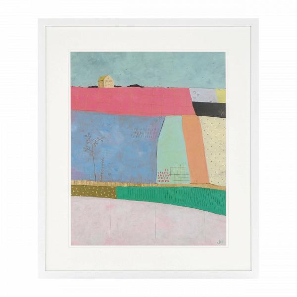 Постер Patchwork FieldsКартины<br><br><br>stock: 9<br>Ширина: 55,8<br>Цвет: Разноцветный<br>Длина: 65,8