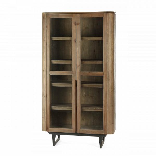 Книжный шкаф MadinaШкафы<br>Мебель из еловой древесины – это для многих непривычный элемент, однако дизайнеры по-достоинству оценили возможности этого материала. Из ели мастера создают необыкновенные, атмосферные предметы мебели, оформленные «под старину» или искусственно состаренную мебель. Таким сделан и дизайнерский книжный шкаф Madina, который станет идеальным решением для помещения в стиле кантри, шале, гранж и многих других.<br><br><br> Эта модель вдобавок к своему внешнему виду привлекает еще и функциональностью – ш...<br><br>stock: 8<br>Высота: 205<br>Ширина: 110<br>Глубина: 40<br>Цвет ножек: Черный<br>Материал каркаса: Ель состаренная<br>Цвет каркаса: Коричневый