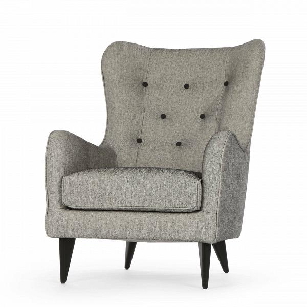Кресло PolaИнтерьерные<br>Дизайнерское мягкое удобное кресло Pola (Пола) с тканевой обивкой от Sits (Ситс).<br><br><br> Дизайнеры компании Sits, чья мебель имеет выраженные шведские черты, не перестает радовать новыми моделями мягкой мебели. Изящные и невероятно удобные формы кресла Pola помогут вам расслабиться и отдохнуть даже в самый разгар трудового дня. На выбор имеется большое количество вариантов цветового исполнения обивки кресла, благодаря чему вы легко подберете именно то, что лучше всего подойдет вашей комнате...<br><br>stock: 2<br>Высота: 102<br>Высота сиденья: 45<br>Ширина: 77<br>Глубина: 96<br>Цвет ножек: Черный<br>Материал обивки: Хлопок, Вискоза<br>Степень комфортности: Стандарт комфорт<br>Материал пуговиц: Шерсть, Полиамид<br>Цвет пуговиц: Черный<br>Коллекция ткани: Категория ткани IV<br>Тип материала обивки: Ткань<br>Тип материала ножек: Дерево<br>Цвет обивки: Серый