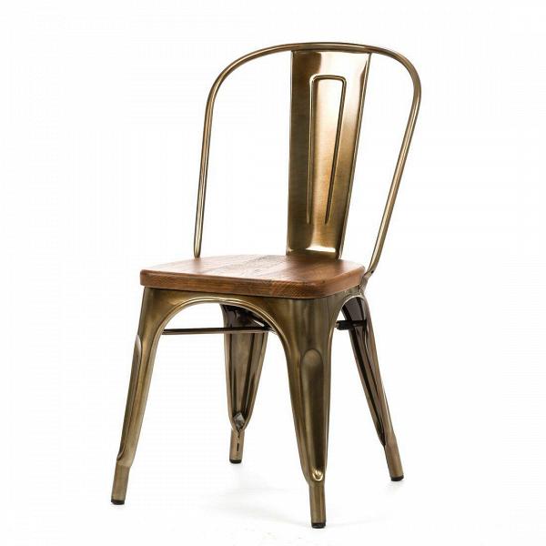 Стул Marais WoodИнтерьерные<br>Дизайнерский креативный жесткий стул Marais Wood (Мэрейс Вуд) на стальном каркасе с сиденьем из дерева от Cosmo (Космо).<br><br>     В современном мире не существует единого правила для создания интерьера, это вопрос личных предпочтений. Кто-то любит наличие картин в золоченых резных рамах, кто-то увлекается яркими восточными коврами и рогожками, а кому-то ближе холодный приглушенный блеск металла и промышленный дизайн в оформлении жилища.<br><br><br> Стул Marais WoodВ — это именно индустриальный ...<br><br>stock: 0<br>Высота: 85<br>Высота сиденья: 45<br>Ширина: 46<br>Глубина: 51<br>Тип материала каркаса: Сталь<br>Материал сидения: Массив ореха<br>Цвет сидения: Орех<br>Тип материала сидения: Дерево<br>Цвет каркаса: Бронза пушечная<br>Дизайнер: Xavier Pauchard