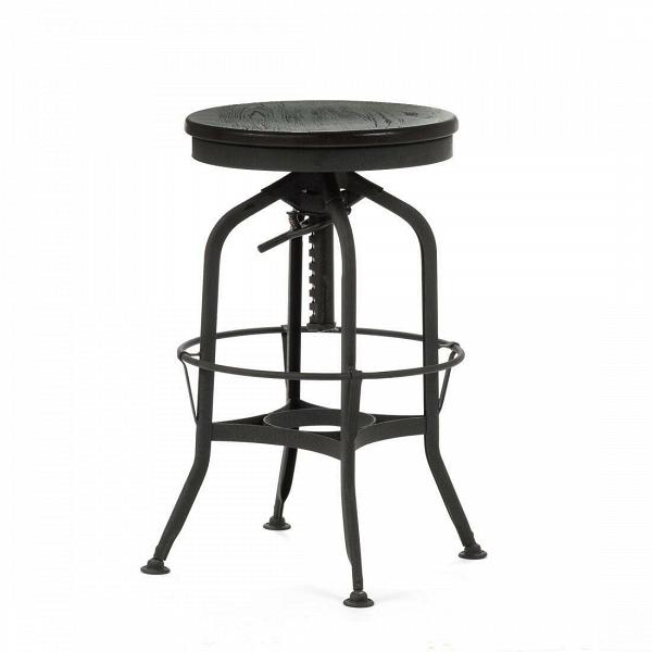 Барный стул Toledo Rondeau без спинкиБарные<br>Дизайнерский  металлический барный стул Toledo Rondeau (Толедо Рондо) без спинки с деревянным сиденьем от Cosmo (Космо).<br><br> Удобный и легкий барный стул Toledo Rondeau без спинки подходит для тех, кто ценит естественный симбиоз эстетичного дизайна и высокого качества. Сочетание стали и дерева выгоднее всего будет смотреться с кирпичной кладкой лофта или в сочетании с деревянными панелями, также эта модель будет органична в интерьерах эко или индустриального стиля.<br><br><br> Изначально стул был...<br><br>stock: 0<br>Высота: 62-73<br>Диаметр: 42<br>Цвет ножек: Черный<br>Материал сидения: Массив ясеня<br>Цвет сидения: Черный<br>Тип материала сидения: Дерево<br>Тип материала ножек: Сталь