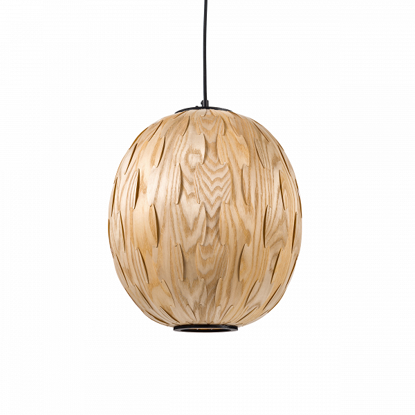 Подвесной светильник  Nature DropПодвесные<br>По форме подвесной светильник Nature Drop напоминает традиционный китайский фонарик, так что он несомненно придется по вкусу ценителям минимализма и азиатских мотивов в интерьере. Эта лампа смотрится очень аккуратно и изящно, ее можно смело вешать не только в гостиную, но и в спальню — она хорошо дополнит спокойный и интимный интерьер, выполненный в естественных природных тонах. Благодаря натуральному деревянному плафону, светильник идеально впишется в интерьер стиля эко и рустик.В<br>...<br><br>stock: 31<br>Диаметр: 35<br>Длина провода: 150<br>Количество ламп: 1<br>Материал абажура: Ясень<br>Материал арматуры: Сталь<br>Мощность лампы: 40<br>Ламп в комплекте: Нет<br>Напряжение: 220<br>Тип лампы/цоколь: E27<br>Цвет абажура: Натуральный<br>Цвет арматуры: Черный
