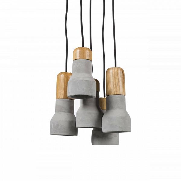 Подвесной светильник Nordic TimberПодвесные<br>Эта на первый взгляд простая и весьма брутальная лампа — на самом деле последнее веяние в индустрии дизайна. Сегодня все дизайнеры пришли к тому, что современный интерьер должен быть ярким и индивидуальным, избавленным от любых границ и табу. Бетонный плафон лампы выглядит непривычно и одновременно заманчиво — ужВбольно велик соблазн обыграть этот предмет в интерьере, интегрировать в домашнее пространство и сделать заметной, «увесистой» деталью комнаты. А уж для любителей невероятно ...<br><br>stock: 0<br>Диаметр: 25<br>Длина провода: 150<br>Количество ламп: 5<br>Материал абажура: Бетон<br>Материал арматуры: Сталь<br>Мощность лампы: 25<br>Ламп в комплекте: Нет<br>Напряжение: 220<br>Тип лампы/цоколь: E14<br>Цвет абажура: Натуральный<br>Цвет арматуры: Черный