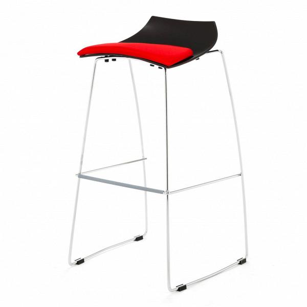 Барный стул HoopБарные<br>Дизайнерский черно-красный пластиковый барный стул Hoop (Хуп) на стальных ножках от Cosmo (Космо). <br><br> Износостойкий, прочный иВпростой вВобращении современный барный стул Hoop подойдет практически кВлюбому пространству. Неординарность, инновации, экспрессия — молодежь двигается по жизни именно так. Энергичная работа и непременно активный отдых. Клубы, бары и кафе в самых современных стилистических решениях могут пополнить свой арсенал ярким аутентичным аксессуаром, которым п...<br><br>stock: 1<br>Высота: 85<br>Высота сиденья: 76<br>Ширина: 38<br>Глубина: 35<br>Цвет ножек: Хром<br>Цвет сидения: Черный<br>Тип материала сидения: Пластик<br>Цвет сидения дополнительный: Красный<br>Тип материала ножек: Сталь<br>Дизайнер: Marco Maran