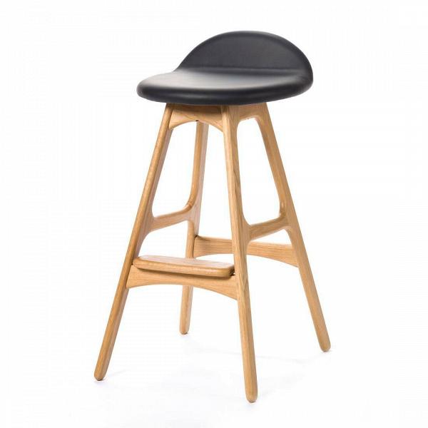 Барный стул Buch 2Полубарные<br>Мы говорим скандинавский модерн, подразумеваем целую плеяду дизайнеров-экспериментаторов, среди которых был и Эрик Бук. Мебель этого датчанина с 1957 года занимает прочные позиции в истории дизайна благодаря минималистичным обтекаемым формам, натуральным материалам — дереву, ткани и коже, практичности и функциональности.<br><br><br> Поклонников модного нынче экологичного образа жизни, да и просто любителей завтраков и ужинов на траве, наверняка привлечет знаменитый барный стул Buch 2. Он появи...<br><br>stock: 0<br>Высота: 75,5<br>Высота сиденья: 65<br>Ширина: 40<br>Глубина: 45<br>Цвет ножек: Белый дуб<br>Материал ножек: Массив дуба<br>Цвет сидения: Черный<br>Тип материала сидения: Кожа<br>Коллекция ткани: Standart Leather<br>Тип материала ножек: Дерево<br>Дизайнер: Erik Buch