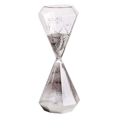 Песочные часы Si-Time Queen на 60 минутЧасы<br>Дизайнерские песочные часы Si-Time Queen (Си-Тайм Куин) из стекла на 60 минут от Seletti (Селетти).<br><br> Итальянские дизайнеры из компании Seletti чтут традиции модернизма, не забывая о старинных канонах красоты, иВскрещивают новые формы и цвета с классическим декором, получая при этом ни на что не похожие предметы.<br><br><br> Компания была создана еще в шестидесятых, один из ее основателей Романо в то время активно путешествовал по востоку Китая и привез в Европу предметы интерьера из бамбу...<br><br>stock: 0<br>Высота: 25,5<br>Материал: Стекло<br>Диаметр: 10,2