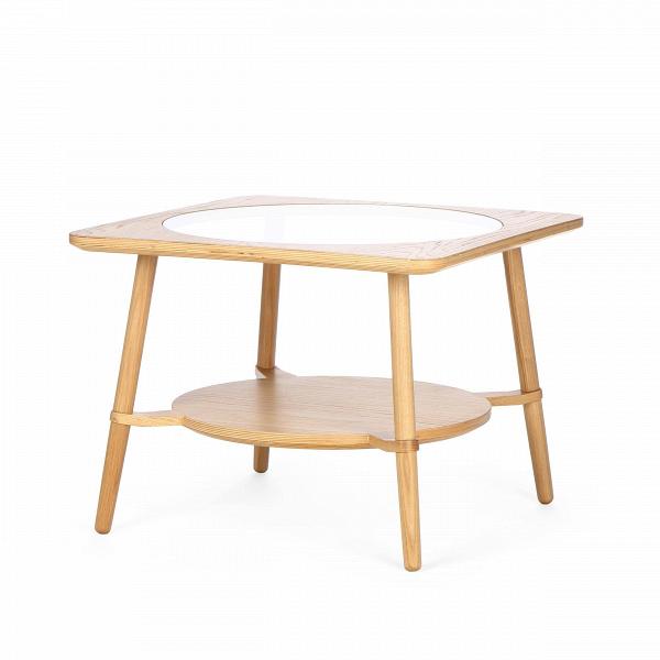 Кофейный стол  CutoutКофейные столики<br>Дизайнерский стильный кофейный стол Cutout (Катаут) с прозрачной столешницей от Cosmo (Космо).<br><br><br> Журнальный стол Cutout сконструировал американский дизайнер Шон Дикс. Мебель Шона Дикса минималистична иВинтеллектуальна, прекрасно обработана иВочень функциональна. Она несет вВсебе чувство роскоши, которое отличает работы Шона отВработ его коллег.В<br><br><br> Иногда дизайнеры как дети, им хочется взяться за ножницы и клей и смастерить причудливое оригами или аппликацию...<br><br>stock: 2<br>Высота: 45<br>Ширина: 60<br>Длина: 60<br>Цвет ножек: Светло-коричневый<br>Цвет столешницы: Прозрачный<br>Материал каркаса: Фанера, шпон дуба<br>Материал ножек: Массив дуба<br>Тип материала каркаса: Фанера<br>Тип материала столешницы: Стекло закаленное<br>Тип материала ножек: Дерево<br>Цвет каркаса: Светло-коричневый<br>Дизайнер: Sean Dix